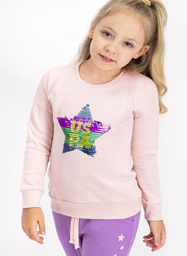 U.S. Polo Assn. Lisanslı Somon Kız Çocuk Eşofman Takımı Somon